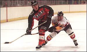 Scottish Eagles in action against Nottingham Panthers