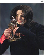 Jackson with his Bambi award