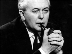 Harold Wilson with pipe - March 1966