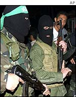 Hamas fighters in Gaza City