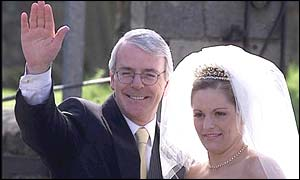 John Major and his daughter Elizabeth