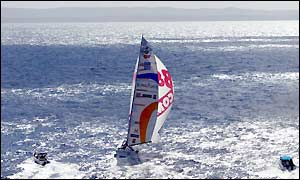 Guadeloupe comes into view after 3968 miles of sailing at an average speed of 12.9 knots
