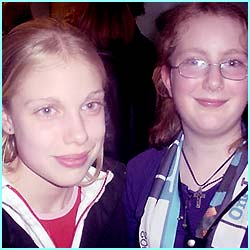 Sophie 14 and Helen 11 from Nottingham really loved the 70s part of the show...