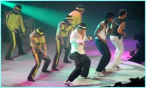 They also did a bit of a smooth criminal number...