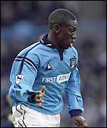 Shaun Wright-Phillips was sent off for Manchester City
