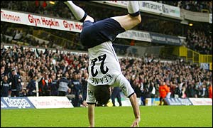 Spurs striker Robbie Keane