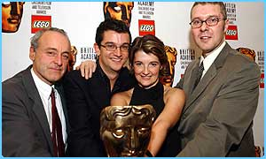 L to R: Editor Roy Milani, presenter Matthew Price, director Audrey Neil and series producer Ian Prince