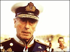 Lord Mountbatten in uniform as Colonel Commandent of the Royal Marines