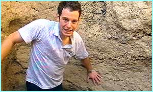 Matt tried to climb down one of the holes, and found it really hard. And there's often snakes down there!