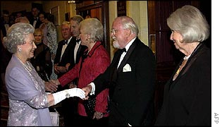 The Queen meets Lord and Lady Attenborough