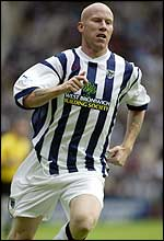 West Brom striker Lee Hughes
