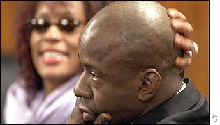 Bobby Brown and Whitney Houston in court