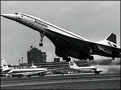 Concorde on maiden flight