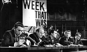 David Frost, Roy Kinnear, Kenneth Cope, Lance Percival and Willie Rushton