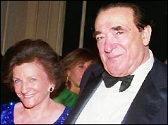 Robert Maxwell with his wife Elizabeth