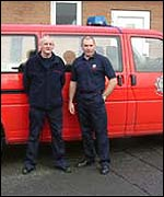 Roy Proctor and Wayner Porter, retained firefighters