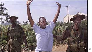 Man being arrested in Kaduna