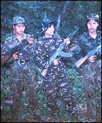 Female Naga rebels