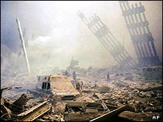 Devastation at Ground Zero, New York