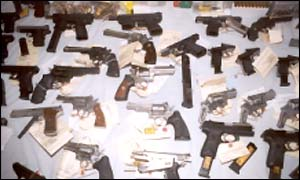 Consignment of guns were seized in Florida in 1999