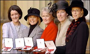 From left: Debbie Knox, Fiona MacDonald, Rhona Martin, Margaret Morton and Janice Rankin