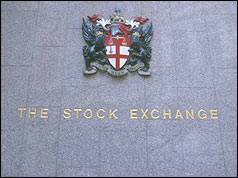 Photo of the front of the London Stock Exchange