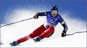 Ross Green in action at the Winter Olympics