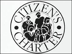Photo of the new Citizen's Charter logo