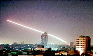 A Patriot missile fire over Israel in 1991