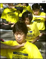 Meditators from the Falun Gong sect