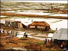 Bangladesh cyclone devastation