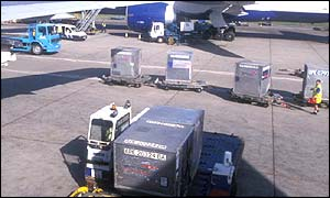 Cargo loading at airport