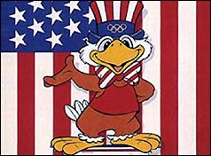 Sam the Eagle, Official Mascot of the 1984 Olympics in Los Angeles