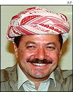 Massoud Barzani, leader of the Kurdistan Democratic Party
