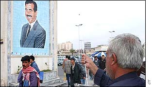 Poster of Saddam Hussein in Iraqi capital