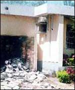 Burnt down offices of ThisDay newspaper in Kaduna