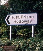 Holloway Prison sign