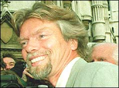 Richard Branson leaving court