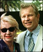Actor Michael York and his wife