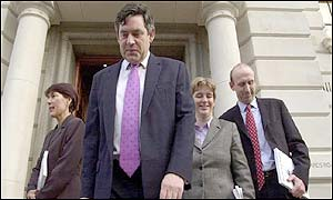 Gordon Brown and his treasury team