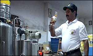 Nadim Khoury samples his beer