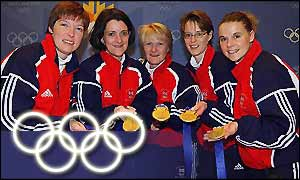 The GB gold medal curling team