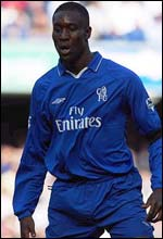 Chelsea's exciting young striker Carlton Cole