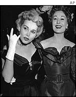 Zsa Zsa, left, with sister Magda in 1955