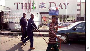 Lagos office of This Day newspaper, which Isioma Daniel worked for