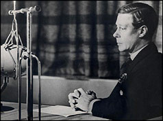 The Duke of Windsor announces his abdication to the nation
