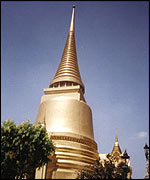 Golden stupa in Temple of the Emerald Buddha, Royal Grand Palace