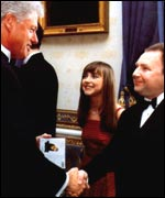 Bill Clinton meets Charlotte Church and her manager