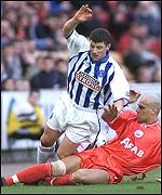Roberto Bisconti in action against Kilmarnock