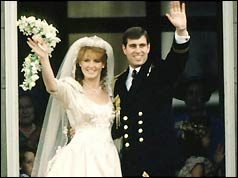 Duke and Duchess of York on their wedding day